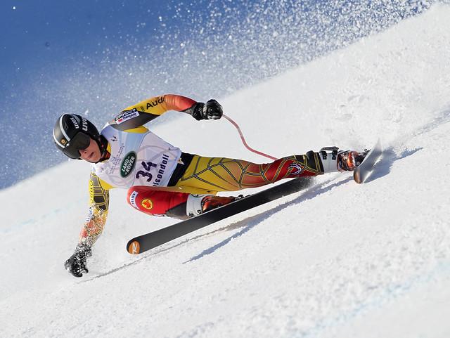 Fis Alpine Junior  World Ski Championship 2012. Morgan Megarry Discesa libera Maschile.  Roccaraso, 02 Marzo 2012 (Pentaphoto/Marco Trovati)