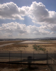 Van Nuys airport from the Amtrak train