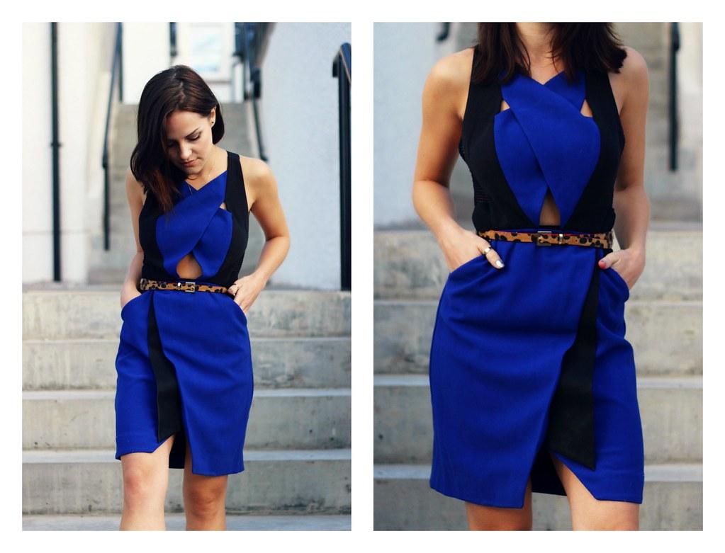 Three Floor cobalt blue dress 2