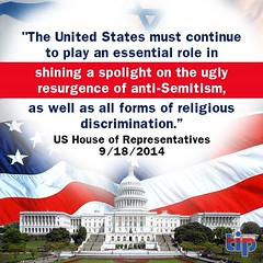 US House of Representatives Stands Against Anti-Semitism