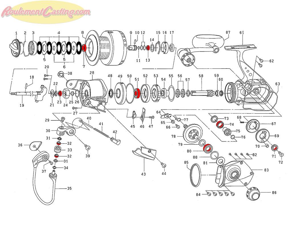 Schéma Daiwa Saltiga Z5000