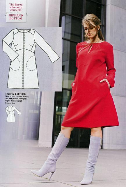 Burda-2014-October Plus A Line Dress