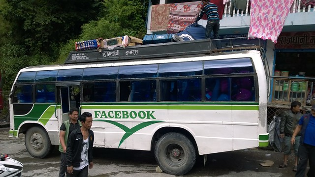 Probably not an official Facebook Bus