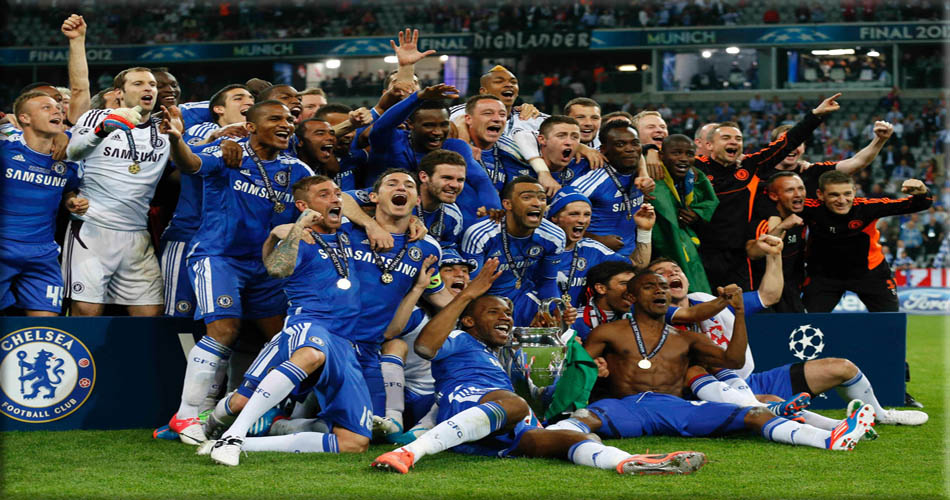 picture of Chelsea Champions League win