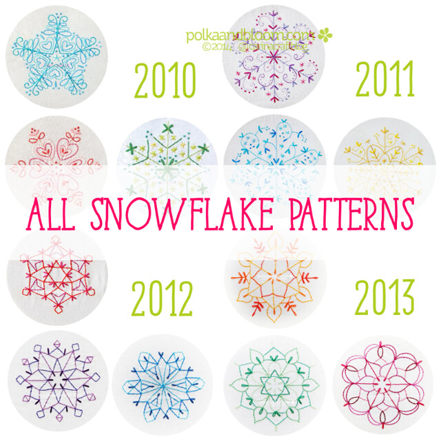 Polka and Bloom Snowflake patterns