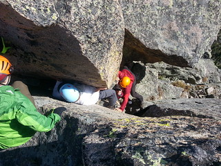 Monika Climbing Squeeze Chimney