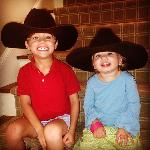 My littlest cowboys!