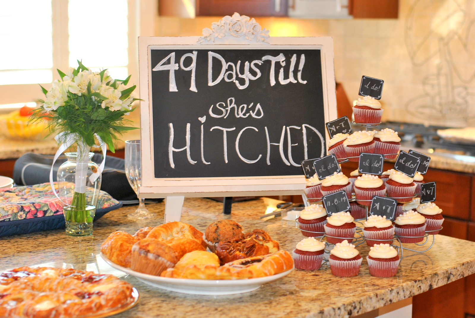 rusticchalkboard themed bridal shower