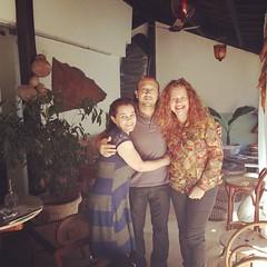 Com Milena e Marcondes, gente muito querida...