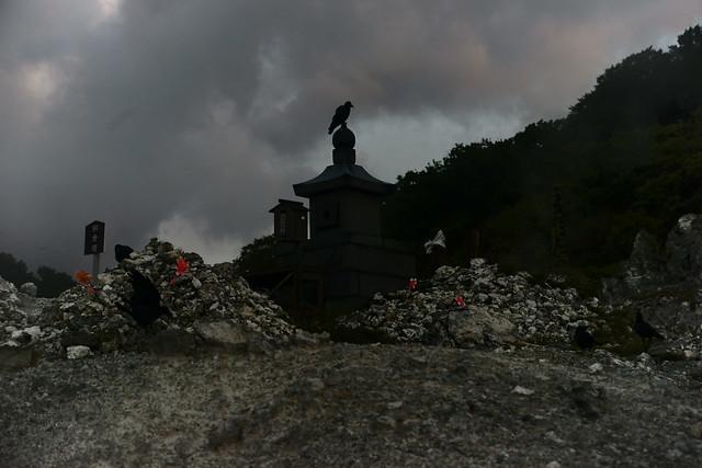 恐山 Osorezan, Aomori Japan, at dawn, 22 Sep 2014. 100