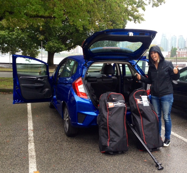 Loading up a #2015Fit for an adventure with @VanWeLoveYou #FitWhatever @HondaCanada