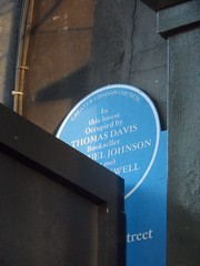 Photo of Thomas Davies, Samuel Johnson, and James Boswell blue plaque