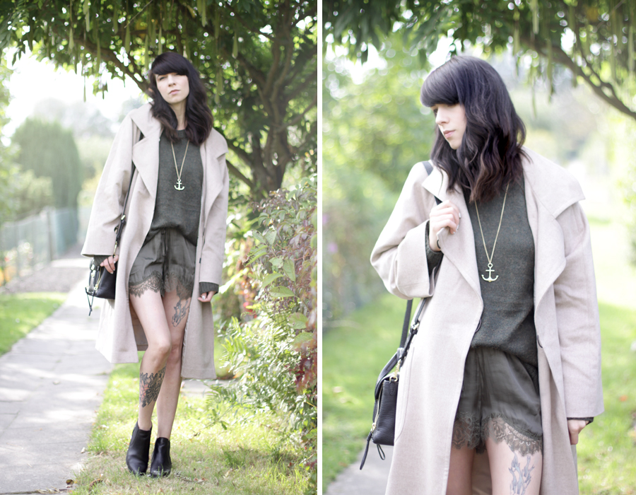 windsor. look coat oversized grey nude green style ootd fashion look CATS & DOGS ricarda schernus 6