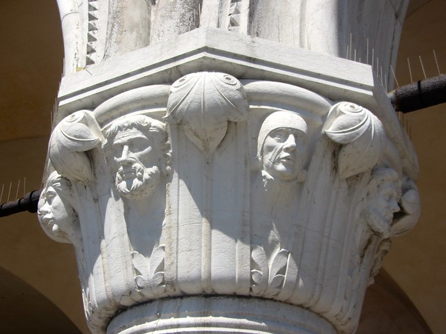 Capital heads on the Ducal Palace