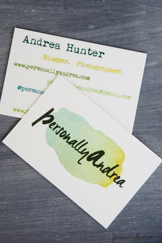Double-sided business cards from MOO | personallyandrea.com