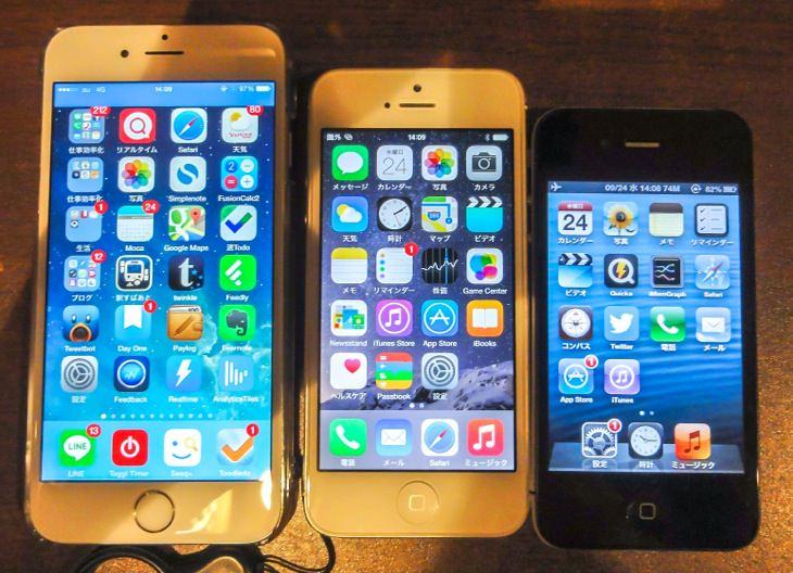 iPhone4とiPhone5とiPhone6