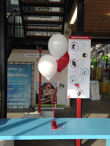 Tafeldecoratie 3ballonnen Innovatie Centrum Duurzaam Bouwen Rotterdam