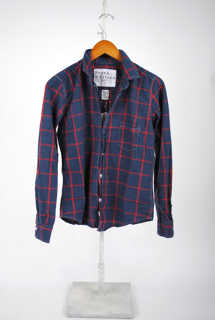 Barry Shirt - Navy and Red Wide Plaid