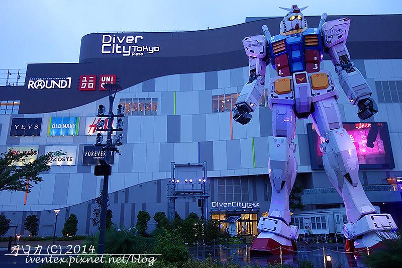 01日本東京台場DiverCity Tokyo Plaza機動戰士鋼彈