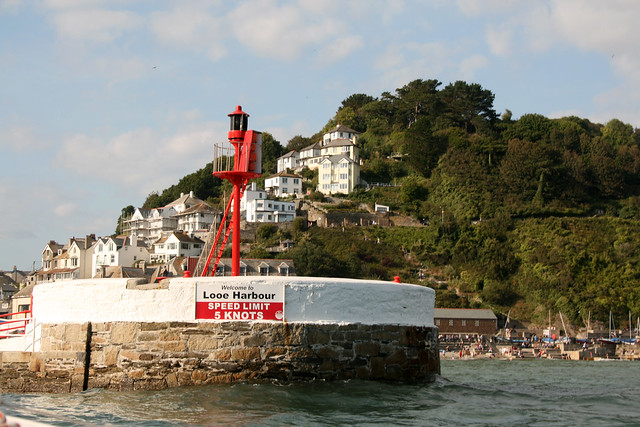 Entering Looe harbour