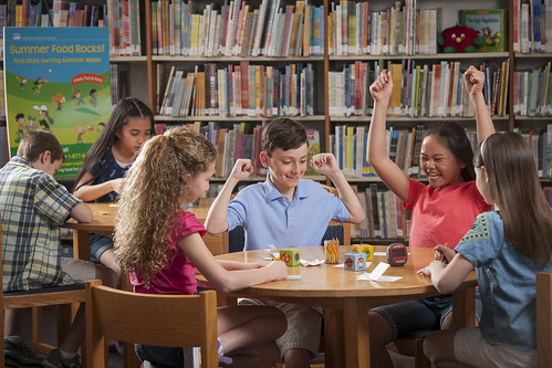 These students aren't only getting free meals this summer; they are also exposed to learning in the library.
