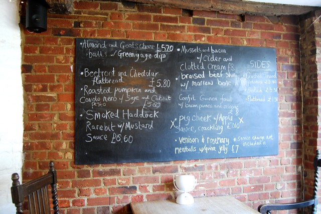 Menu in Salt, Canterbury