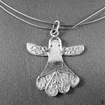 Zilveren engel hanger
