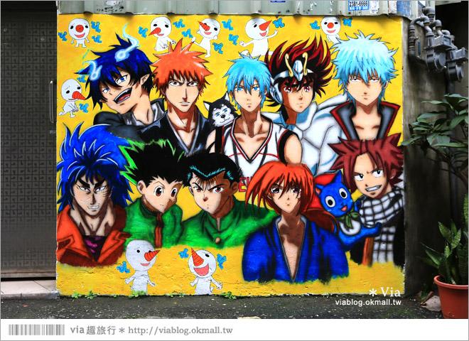 【台中動漫彩繪巷】除了海賊王!還有七龍珠、火影忍者...眾多卡通主題超吸睛!13