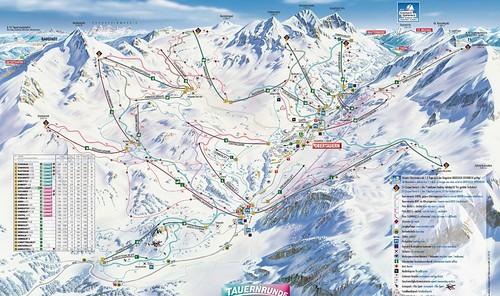 Obertauern - mapa sjezdovek
