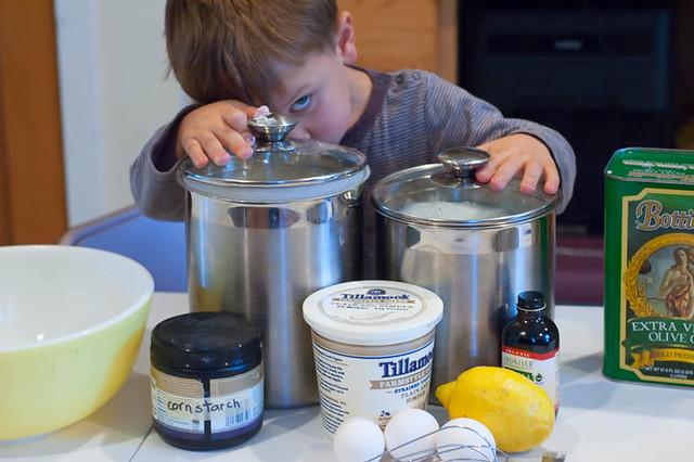 making yogurt carton cake