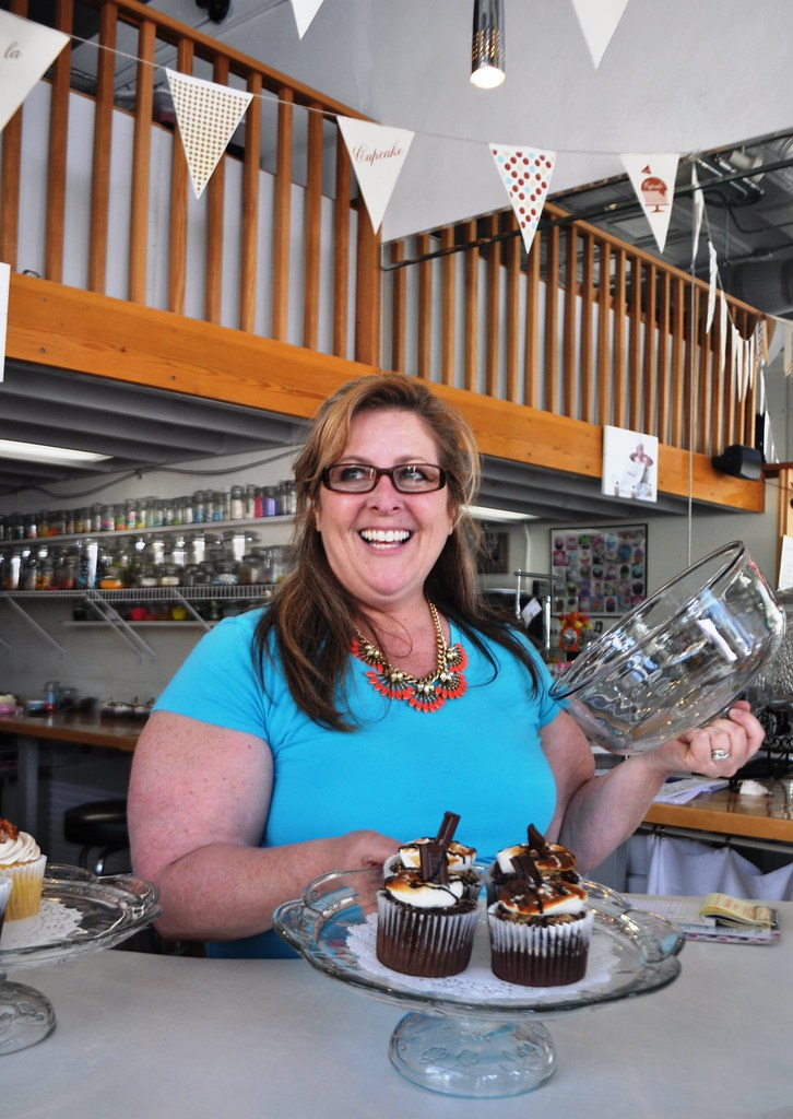 Ms. Pennie Ahuero, Owner of Viva La Cupcakes in Grandin Village, Roanoke, Va.