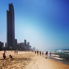 Perfect beach weather :) #goldcoast #beachlife #beachwalk #blueskies #sunshine