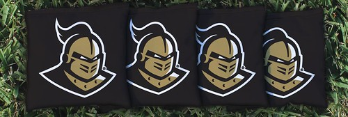 CENTRAL FLORIDA UCF KNIGHTS BLACK CORNHOLE BAGS