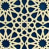 Laser cut coloured and mirror Perspex acrylic, traditional Islamic pattern