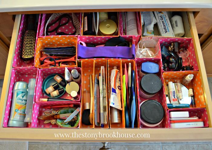 Vanity Drawer Organized