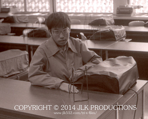 Tri-X Files 84_24.17a: Portrait in the Typing Room