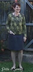 Slate Navy linen skirt
