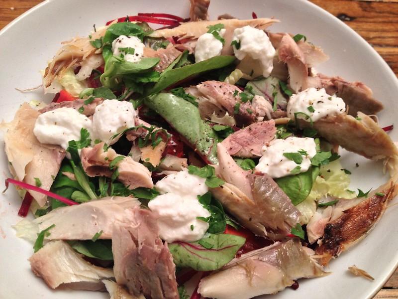Smoked Mackerel Salad with Horseradish Yoghurt : Finished