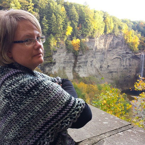 Day 65: Tried taking a photo of my Beautiful Wife looking at Taughannock Falls, but she turned her head toward me at the last second! #100DaysOfHappiness
