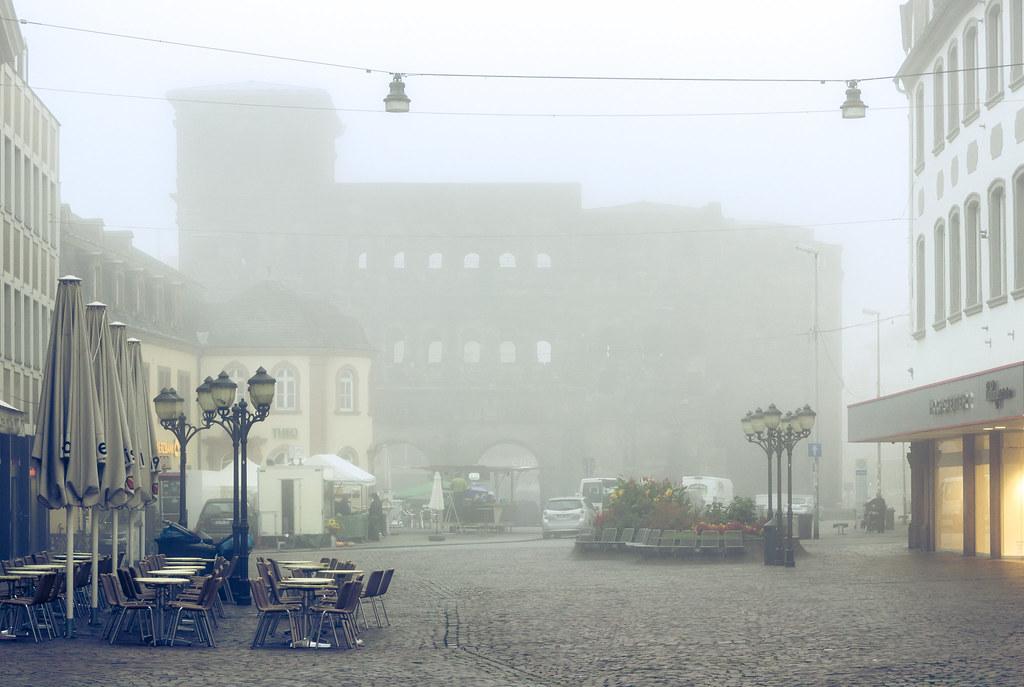 Porta Nigra in the morning mist