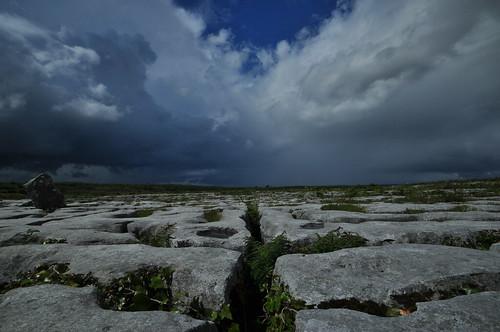 ireland clare limestone burren clint grike