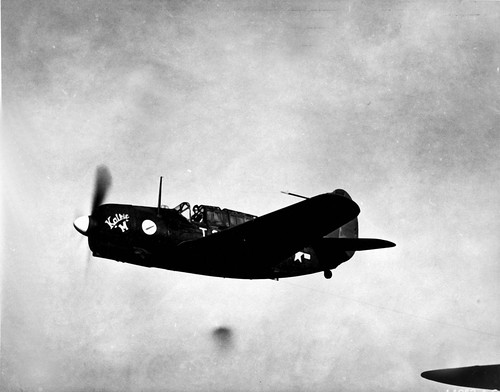 US Curtiss A-25A Shrike over Stewart Georgia June 1944.