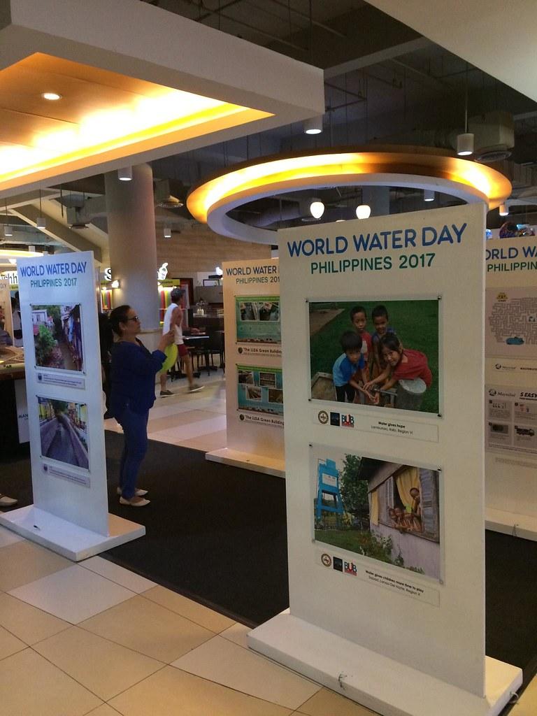#WorldWaterDay exhibit at Market Market Taguig