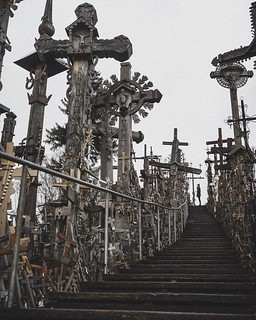 Image of Hill of Crosses near Šiaulių apskritis. instagramapp square squareformat iphoneography uploaded:by=instagram