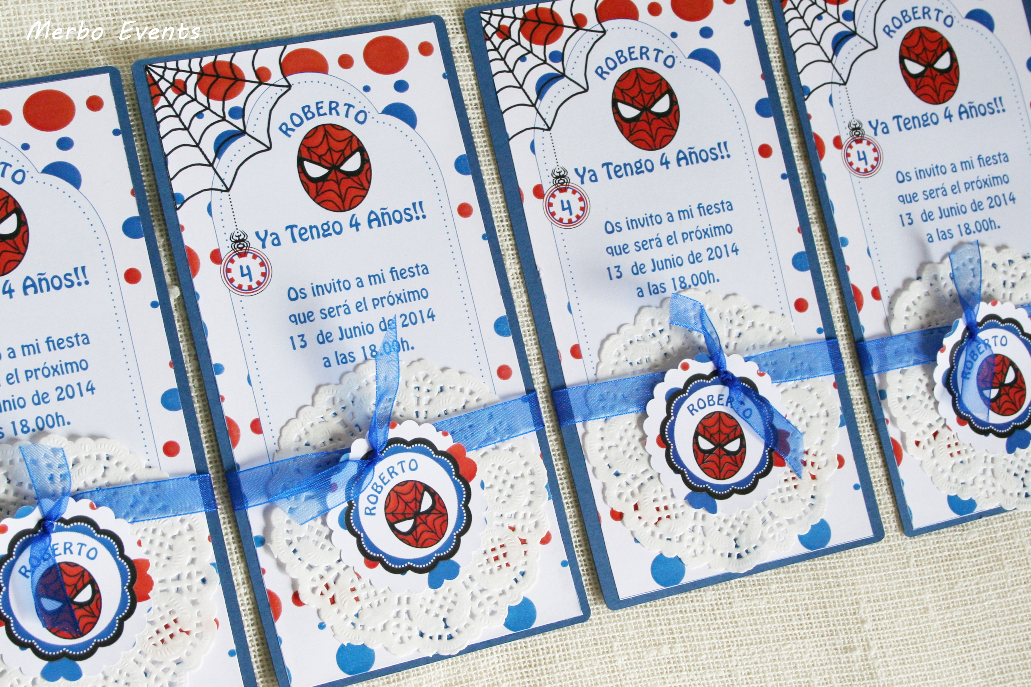 Detalle Invitaciones Cumpleaños Spiderman by Merbo EVents
