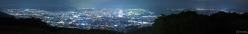 panorama japan night canon walking hiking powershot fukuoka 夜景 kitakyushu 福岡 kokura yakei 山登り 北九州 小倉 トレッキング s120 powershots120 mtkomonji komonji 小文字山