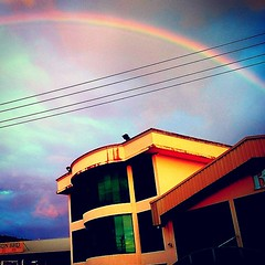 23rd Sept 14: 6.00pm: Amazing full arc rainbow over Lok Kawi office / warehouse this evening! A perfect & inspirational end of a long & crappy day at work! X))  #Beautiful #Amazing #Wonder #Inspired #Rainbow #Colour #Light #Awe #ForceofNature #Bea