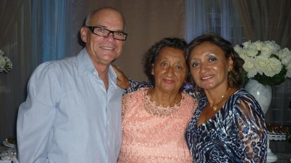 Jacira Façanha com Dorival e Jacenira Pinheiro