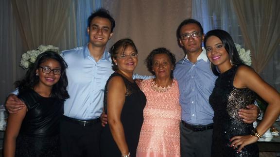 Ana Luiza, Luiz, Carmen, Jacira, Luiz e Danielle Façanha