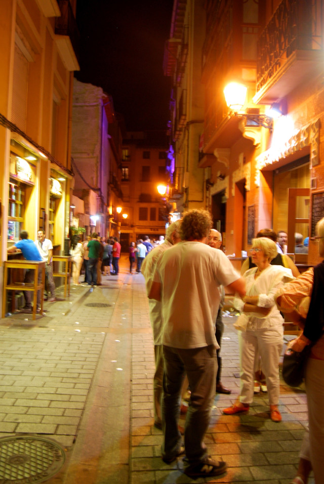 Tapas on the streets of Logroño City, Rioja